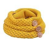 Tuopuda® Damen Schal Loop Strickschal Schlauchschal Loopschal in verschiedenen Farben (Gelb) - Einheitsgröße