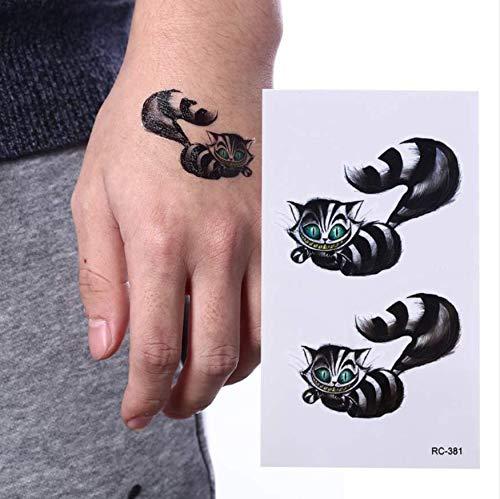 MRKAL 1 schwarzer Waschbär wasserdichte Sticker Body Art temporäre Tattoo Sticker Bär Tattoo ()