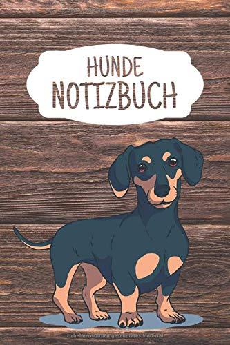 Hunde Notizbuch: Liniertes Notizbuch ca A5 für Notizen, Skizzen, Zeichnungen, als Kalender oder Tagebuch; breites Linienraster; Motiv: Hund Dackel Vintage -