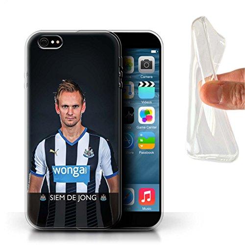 Officiel Newcastle United FC Coque / Etui Gel TPU pour Apple iPhone 6S+/Plus / Pack 25pcs Design / NUFC Joueur Football 15/16 Collection De Jong