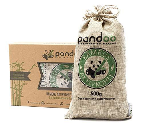 pandoo 1 x 500g natürlicher Bambus Lufterfrischer mit Aktivkohle - Luftreiniger (Ist Eine Welt Bus Der Andere)