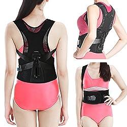 Geradehalter zur Haltungskorrektur, EZbuy Schulter Rücken Haltungsbandage Einstellbare Größe für Männer und Frauen, M Taille: 65-75cm (25.6-29.5in)