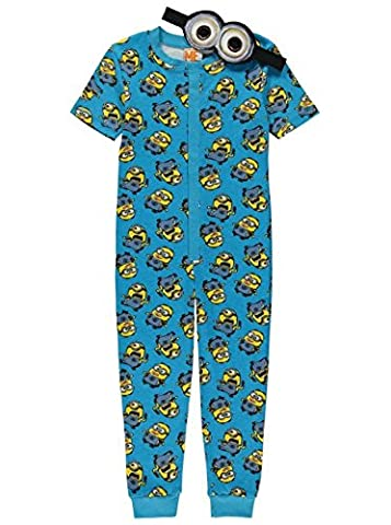 Boys Onesie Pyjamas Despicable Me Minions 2-14 Years Eye Mask