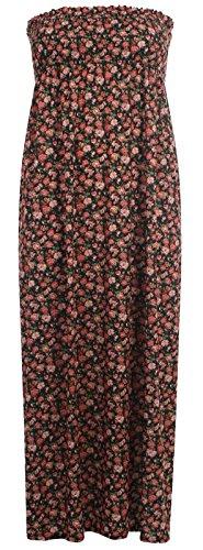 Chocolate Pickle ® Nouveau Femmes ethnique imprimé floral Fétichiste des seins de Tube Maxi robe Ethnic Print