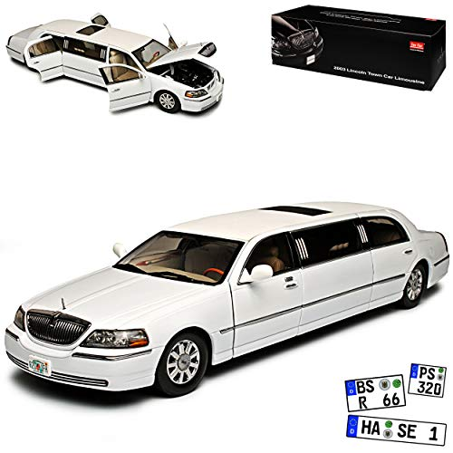 n Car Stretch Limousine Weiss 3. Generation 1998-2011 1/18 Modell Auto ()