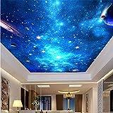 Lvabc Benutzerdefinierte 3D Fototapete Deckengemälde Wohnzimmer Schlafzimmer Bar Decke Hintergrund Wall Decor Wallpapers Home Galaxy Sternenhimmel-280X200Cm