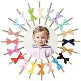 Tenxin Schöne Engel Mädchen Baby Haarband elastische Multicolor Stirnbänder Blumen (Verpackt mit 7pcs)