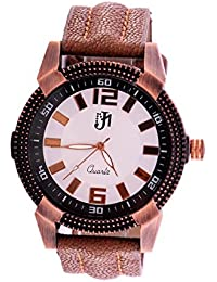 Analog White Dial Round Shape Watch For Men & Boys