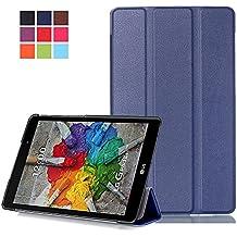 Funda LG Pad X 8.0 Cuero,PU Cuero Smart Cover Book Case Funda para el LG G Pad 3 8.0 V525/LG G Pad X 8.0 V521WG Tablet Carcasa Piel Caso con Soporte funtio