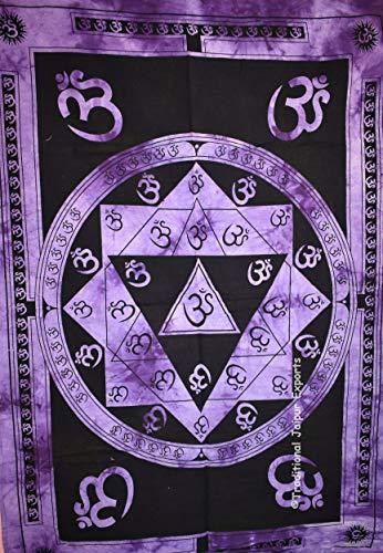 ie Dye Om Mandala Wand Kunst Poster, religiöse Wand-Dekor, böhmische Wandbehang, Hippie Wohnheim Zimmer Dekoration, Gypsy Wandkunst, Größe 30
