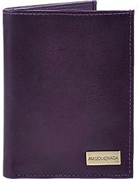 MASQUENADA, Erwachsene Geldbörsen, Portemonnaies, Börsen, Brieftaschen, Echt Leder Lila 9,5x12,5x1 (B x H x T)