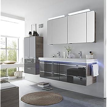 Pelipal balto 3 tlg badm bel set waschtisch unterschrank spiegelschrank - Amazon spiegelschrank ...