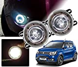 #9: Auto Pearl - Premium Quality Car High Power 9 DRL LED DDEL Fog Light For - Maruti Suzuki Ignis