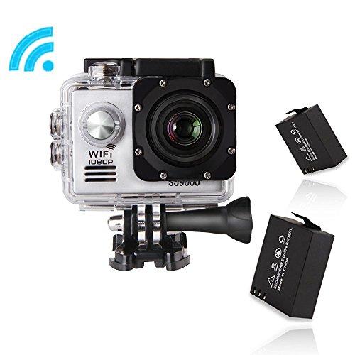 GBB SJ9000 Kit da 14 MP impermeabile di sport d'azione fotocamera con accessori (17 articoli) - Argento