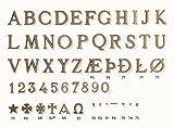 Messingbuchstaben/Grabschrift/Schriftzüge/Messing/Schrift/Grabstein/Urnenschrift
