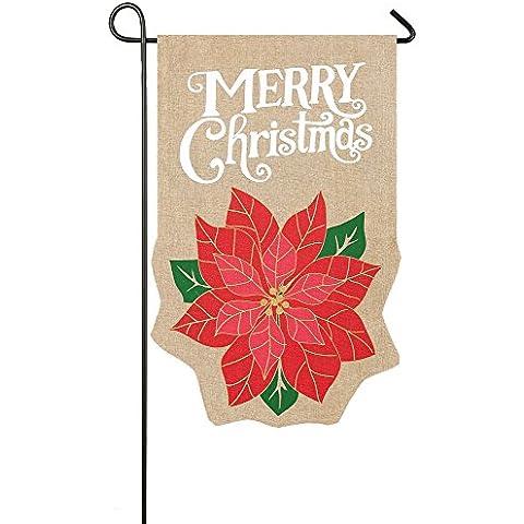 Evergreen vacanze di Natale di tela da giardino Bandiera, 12,5 x 45,72 cm - Vacanze Di Natale Banner Flag
