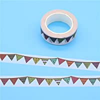 WRITIME 15mm x 10m de cintas de enmascarar de papel japonés Washi Tape Diy Scrapbooking Sticker Papelería suministros escolares ,S