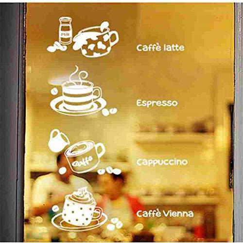 wandaufkleber 3d Wandaufkleber Schlafzimmer Kaffee Latte Aufkleber Essen Aufkleber Cafe Poster Art Decor Wandbild Kaffee Aufkleber für Coffee Shop -