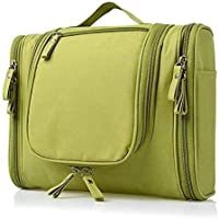 Hk Villa Travel Toiletry Bag Waterproof Toiletry Kit Extra Large Makeup Organiser Cosmetic Bags for Make Up Hanging Side Open Toiletry Bag Travel Cosmetic Makeup Bag for Women & Shaving Kit Storage Travel Kit Pack with Hook
