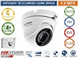 Hiwatch - Cámara Dome 4 en 1, 4 Mpx, 2,8 mm, Serie Hiwatch Hikvision Metal