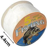 Dedeka Bolsa de malla para cebo de pesca, relleno de malla de PVA, 5 m, 25/37/44 mm, red de pescado de agua rápida y soluble para cebos sólidos (3 tamaños)