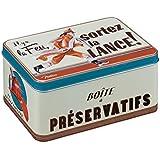 NATIVES 411690 Le pompier Boîte à préservatif Métal Multicolore 13 x 8,5 x 6,5 cm