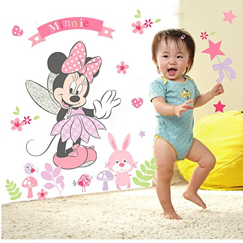 Smart Art Disney Wandaufkleber Mickey Mouse Minnie Wandtattoos DIY Kinder Karikatur Dekoration