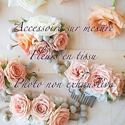 Couronne sur mesure fleurs en tissu