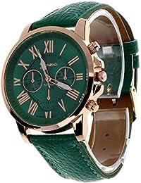 Cloudwood Geneva Chronograph Analogue Green Dial Men's Watch - W-06
