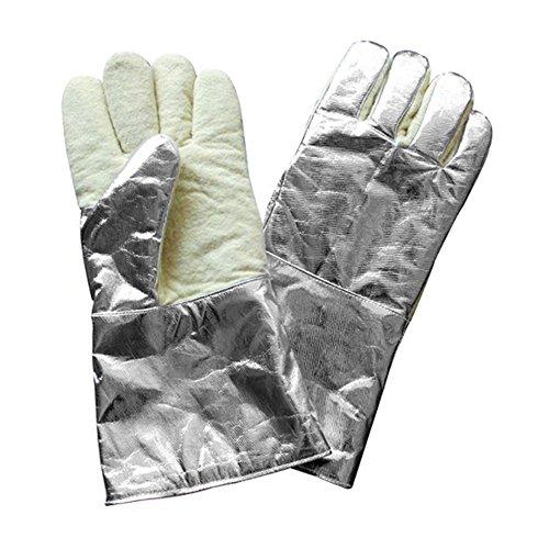 1000 ° résistant à la chaleur Gant Manchette aluminisé et fibre de carbone W/renforcer les Palm