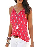 TTYLLMAO Women Sexy Sleeveless Strapless Tank Top XS Red