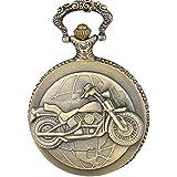 Artvarko Vintage BIKE Metal Pocket Watch Clock | Pendant | Locket Chain