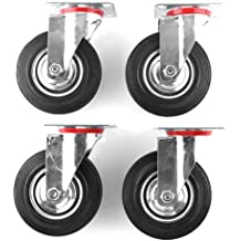 MVpower Lot de 4pcs Ruedas Giratorias, Ruedas de Transporte para Carritos Muebles (125mm)