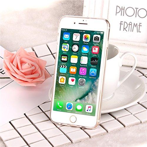 Custodia iphone 6S 4.7, Cover per iphone 6 Silicone, iphone 6S Glitter Cover, MoreChioce Moda Glitter Sparkle Bling bling Brillante Morbido 3d Gel TPU Silicone Gomma Cover Case Custodia per iphone 6 4 C-Hot Pink