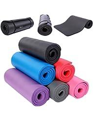 TRESKO Fitnessmatte Yogamatte Pilatesmatte Gymnastikmatte in 6 Farbvarianten / Maße 185cm x 60cm in 2 Stärken / Phthalates-getestet / NBR Schaumstoff / hautfreundlich, anschmiegsam, kälteisolierend