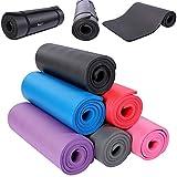 TRESKO Fitnessmatte Yogamatte Pilatesmatte Gymnastikmatte TÜV SÜD-geprüft in 6 Farbvarianten / Maße 185cm x 60cm in 2 Stärken / Phthalates-getestet / NBR Schaumstoff / hautfreundlich, anschmiegsam, kälteisolierend