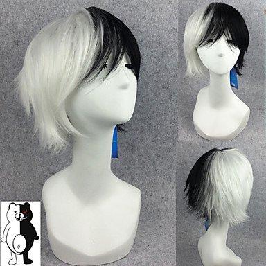 hjl-parrucca Cosplay Kurz Schwarz gemischt schwarz Dangan Ronpa perucas Haar Monokuma Cosplay Bär Herren