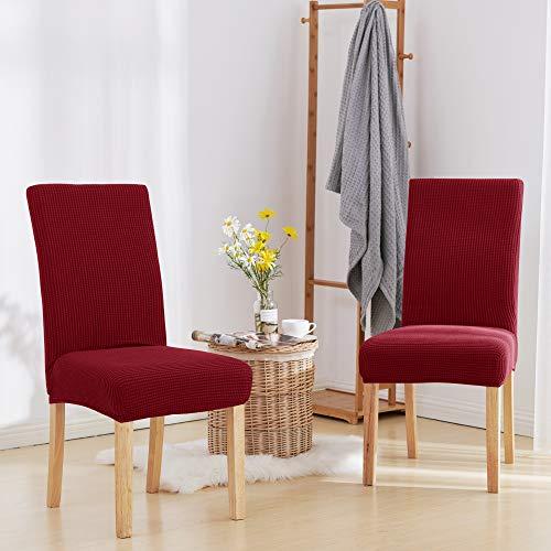 Deconovo coprisedie con schienale 2 pezzi elasticizzato moderno copertura della sedia universale per sala da pranzo vino