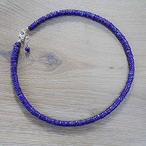 Edelstein-Kette mit intensiv blauem Lapislazuli und 925 Sterling Silber