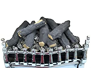 """16"""" Living Flame Gas Fire VICTORIAN V1 Inset Fire Tray LOG Effect UK Manufacturer 16 Inch"""