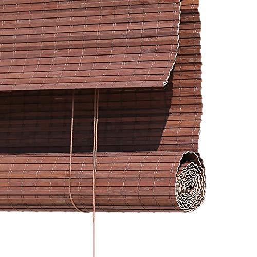 Blackout Roll up Rolläden für Veranda Balkon, Indoor Outdoor Sonnenschutz Roller Fenster Shades mit Valance, Braun, 50cm / 60cm / 70cm / 80cm / 90cm / 100cm Breite ( Size : 100x160cm ) -