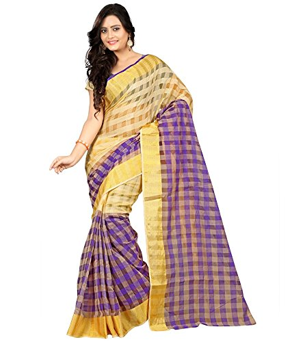 Arawins Womens Bhagalpuri Silk Beige Saree With Blouse Piece New Collection in Great Indian Sale Offers  available at amazon for Rs.199