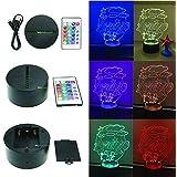 Lampada 3D Led Plexiglass personalizzata, nome, con telecomando, notturna, comodino, cameretta, uv, usb, idea, regalo, bambin