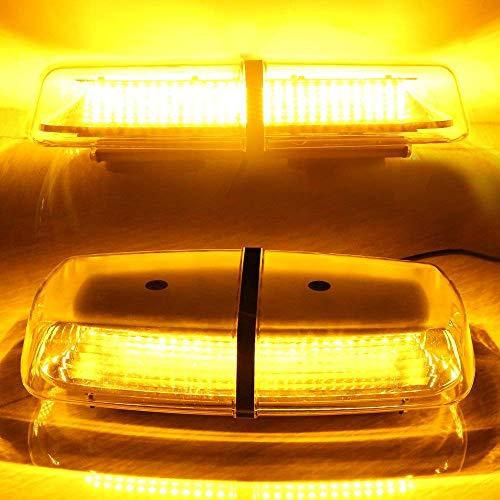 Auto LED Rundumleuchte Warnleuchte Blitzlicht Autolampe Licht 12V -24V+7 Arten von Modus Lich für Auto Trailer RV Caravan SUV Boot Marine Dacht-Bernstein -