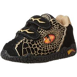 Dinosoles X10 - Zapatillas para niños, color negro, talla talla inglesa 5 UK Youth