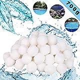Sunshine smile Filtri Balls per Acquario, Materiale filtrante Piscina, Sabbia per Filtro Piscina, Sfere per Filtrazione, Filtro Balls (700 g)