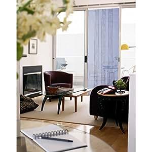 rideau de porte moustiquaire arles 4 bandes 100x220 cm bricolage. Black Bedroom Furniture Sets. Home Design Ideas