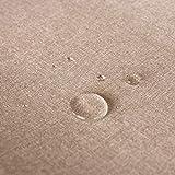 Hans-Textil-Shop Stoff Meterware Beige meliert Polyester Wasserabweisend