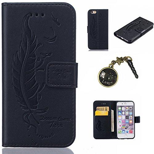 PU Silikon Schutzhülle Handyhülle Painted pc case cover hülle Handy-Fall-Haut Shell Abdeckungen für Smartphone Apple iPhone 6 6S Plus (5.5 Zoll)+Staubstecker (1AE) 6