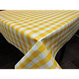 Mantel de Hule PVC estampado Ref. Picnic color Amarillo, medida 140x200